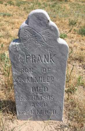 MILER, FRANK - Sioux County, Nebraska | FRANK MILER - Nebraska Gravestone Photos