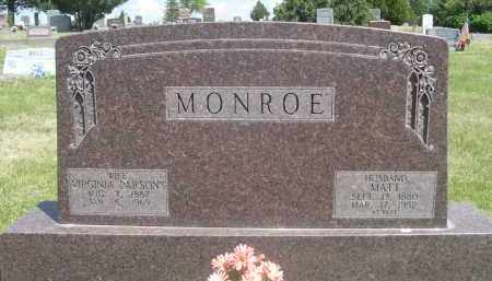 PARSONS MONROE, VIRGINIA - Sioux County, Nebraska | VIRGINIA PARSONS MONROE - Nebraska Gravestone Photos