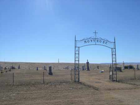 *MONTROSE CEMETERY, ENTRANCE GATE - Sioux County, Nebraska | ENTRANCE GATE *MONTROSE CEMETERY - Nebraska Gravestone Photos