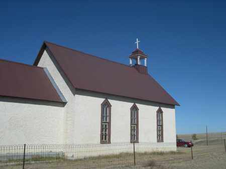 *MONTROSE CHURCH, VIEW OF - Sioux County, Nebraska   VIEW OF *MONTROSE CHURCH - Nebraska Gravestone Photos