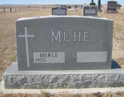 MUHE, MERLE - Sioux County, Nebraska | MERLE MUHE - Nebraska Gravestone Photos