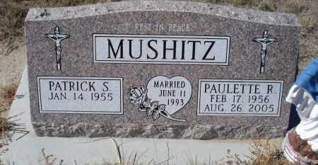 MUSHITZ, PATRICK S. - Sioux County, Nebraska | PATRICK S. MUSHITZ - Nebraska Gravestone Photos