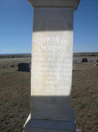 MYERS, EDWIN C. - Sioux County, Nebraska   EDWIN C. MYERS - Nebraska Gravestone Photos