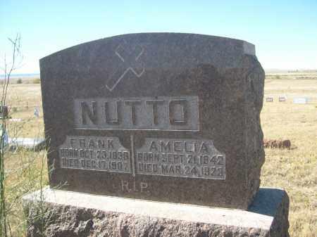 NUTTO, AMELIA - Sioux County, Nebraska | AMELIA NUTTO - Nebraska Gravestone Photos