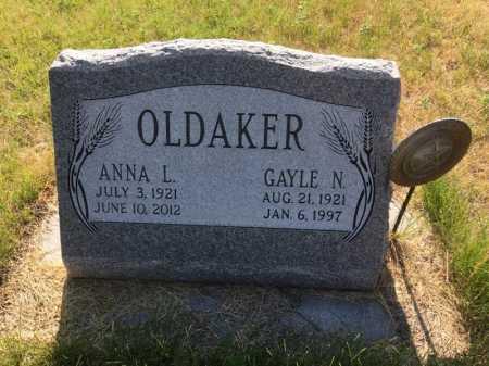 OLDAKER, ANNA L. - Sioux County, Nebraska   ANNA L. OLDAKER - Nebraska Gravestone Photos