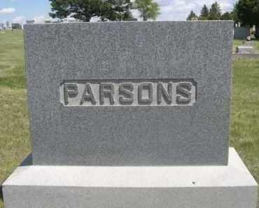 PARSONS, FAMILY - Sioux County, Nebraska | FAMILY PARSONS - Nebraska Gravestone Photos