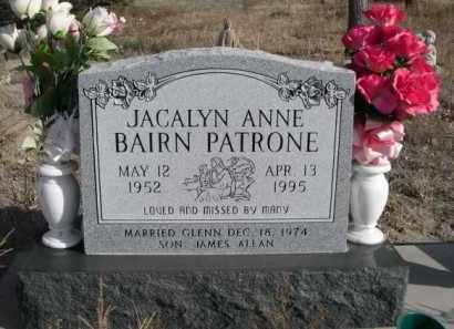 BAIRN PATRONE, JACALYN ANN - Sioux County, Nebraska | JACALYN ANN BAIRN PATRONE - Nebraska Gravestone Photos