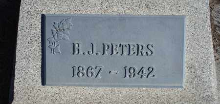 PETERS, H. J. - Sioux County, Nebraska | H. J. PETERS - Nebraska Gravestone Photos