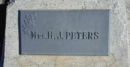 PETERS, MRS. H. J. - Sioux County, Nebraska | MRS. H. J. PETERS - Nebraska Gravestone Photos