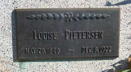 PIETERSEN, LOUISE - Sioux County, Nebraska | LOUISE PIETERSEN - Nebraska Gravestone Photos