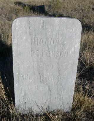 PETERSON, HANNA - Sioux County, Nebraska | HANNA PETERSON - Nebraska Gravestone Photos