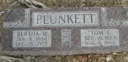 "PLUNKETT, ""TOM"" F. - Sioux County, Nebraska 