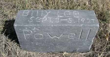 POWELL, BILLY LEE - Sioux County, Nebraska | BILLY LEE POWELL - Nebraska Gravestone Photos