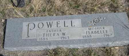 POWELL, THERA W. - Sioux County, Nebraska | THERA W. POWELL - Nebraska Gravestone Photos