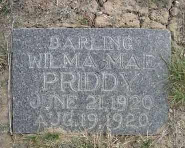 PRIDDY, WILMA MAE - Sioux County, Nebraska | WILMA MAE PRIDDY - Nebraska Gravestone Photos