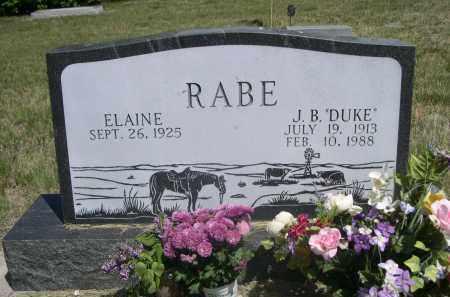 RABE, ELAINE - Sioux County, Nebraska | ELAINE RABE - Nebraska Gravestone Photos