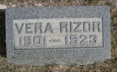 RIZOR, VERA - Sioux County, Nebraska | VERA RIZOR - Nebraska Gravestone Photos