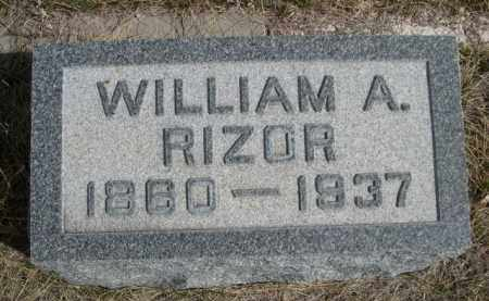 RIZOR, WILLIAM A. - Sioux County, Nebraska | WILLIAM A. RIZOR - Nebraska Gravestone Photos