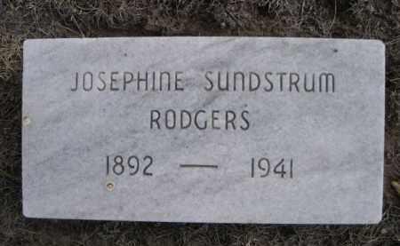RODGERS, JOSEPHINE - Sioux County, Nebraska | JOSEPHINE RODGERS - Nebraska Gravestone Photos