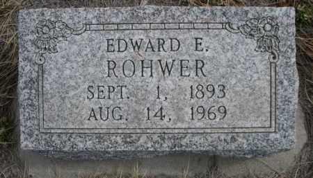 ROHWER, EDWARD E. - Sioux County, Nebraska   EDWARD E. ROHWER - Nebraska Gravestone Photos