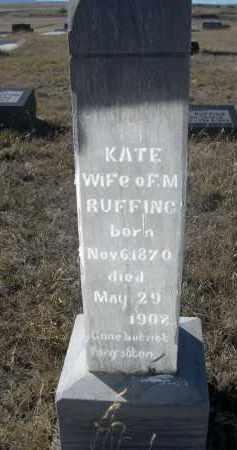 RUFFING, KATE - Sioux County, Nebraska | KATE RUFFING - Nebraska Gravestone Photos