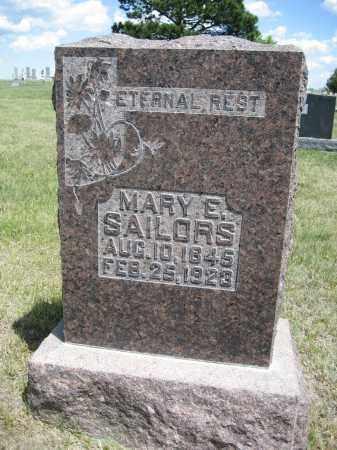 SAILORS, MARY E. - Sioux County, Nebraska | MARY E. SAILORS - Nebraska Gravestone Photos