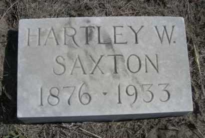 SAXTON, HARTLEY W. - Sioux County, Nebraska | HARTLEY W. SAXTON - Nebraska Gravestone Photos