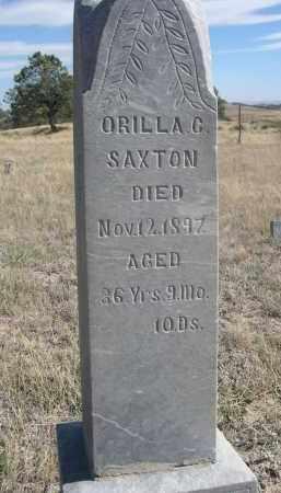 SAXTON, ORILLA G. - Sioux County, Nebraska | ORILLA G. SAXTON - Nebraska Gravestone Photos