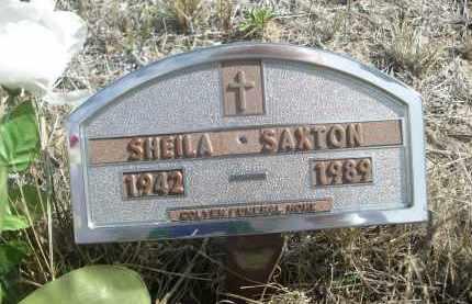 SAXTON, SHEILA - Sioux County, Nebraska | SHEILA SAXTON - Nebraska Gravestone Photos