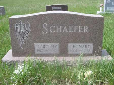 SCHAEFER, DOROTHY - Sioux County, Nebraska | DOROTHY SCHAEFER - Nebraska Gravestone Photos
