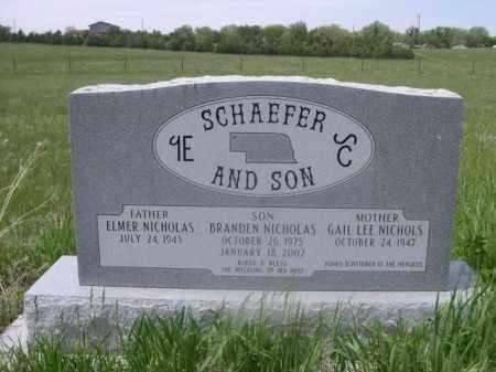 SCHAEFER, GAIL LEE - Sioux County, Nebraska | GAIL LEE SCHAEFER - Nebraska Gravestone Photos