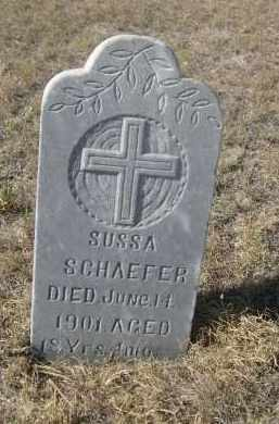 SCHAEFER, SUSSA - Sioux County, Nebraska | SUSSA SCHAEFER - Nebraska Gravestone Photos
