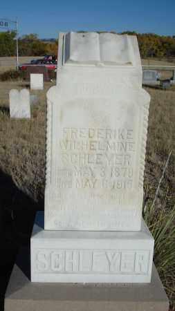 SCHLEYER, FREDERIKE WILHELMINE - Sioux County, Nebraska | FREDERIKE WILHELMINE SCHLEYER - Nebraska Gravestone Photos
