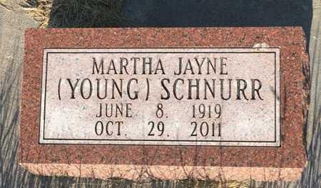 SCHNURR, MARTHA JAYNE - Sioux County, Nebraska | MARTHA JAYNE SCHNURR - Nebraska Gravestone Photos