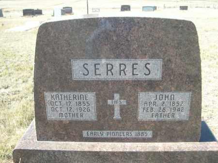 SERRES, JOHN - Sioux County, Nebraska   JOHN SERRES - Nebraska Gravestone Photos