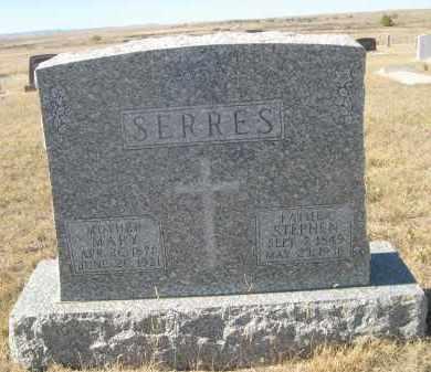 SERRES, MARY - Sioux County, Nebraska | MARY SERRES - Nebraska Gravestone Photos