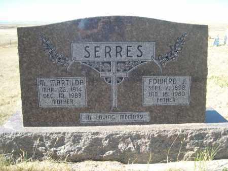 SERRES, EDWARD J. - Sioux County, Nebraska | EDWARD J. SERRES - Nebraska Gravestone Photos