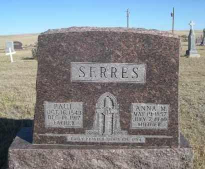 SERRES, ANNA M. - Sioux County, Nebraska | ANNA M. SERRES - Nebraska Gravestone Photos