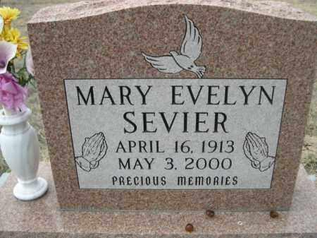 SEVIER, MARY EVELYN - Sioux County, Nebraska   MARY EVELYN SEVIER - Nebraska Gravestone Photos