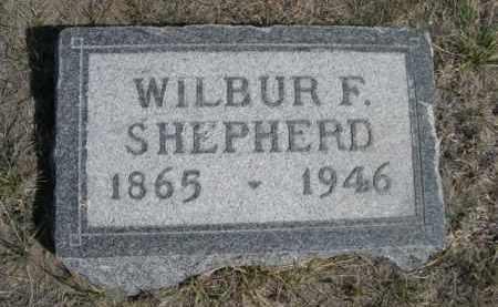 SHEPHERD, WILBUR F. - Sioux County, Nebraska | WILBUR F. SHEPHERD - Nebraska Gravestone Photos