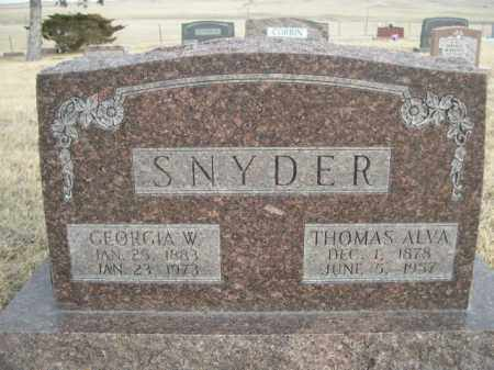 SNYDER, GEORGIA W. - Sioux County, Nebraska | GEORGIA W. SNYDER - Nebraska Gravestone Photos