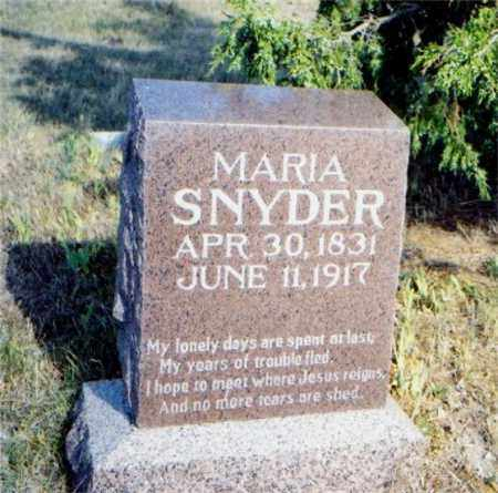 SNYDER, MARIA OAKS - Sioux County, Nebraska | MARIA OAKS SNYDER - Nebraska Gravestone Photos