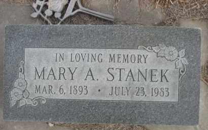 STANEK, MARY A. - Sioux County, Nebraska | MARY A. STANEK - Nebraska Gravestone Photos