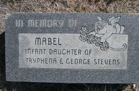 STEVENS, MABEL - Sioux County, Nebraska | MABEL STEVENS - Nebraska Gravestone Photos