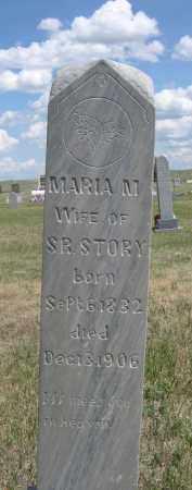 STORY, MARIA M. - Sioux County, Nebraska | MARIA M. STORY - Nebraska Gravestone Photos