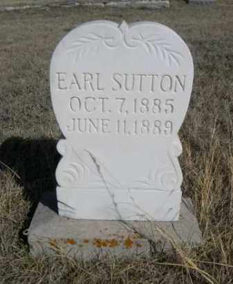 SUTTON, EARL - Sioux County, Nebraska | EARL SUTTON - Nebraska Gravestone Photos