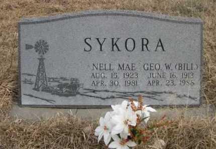 SYKORA, NELL MAE - Sioux County, Nebraska | NELL MAE SYKORA - Nebraska Gravestone Photos