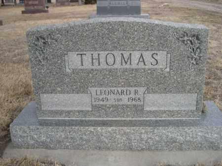 THOMAS, LEONARD R. - Sioux County, Nebraska | LEONARD R. THOMAS - Nebraska Gravestone Photos