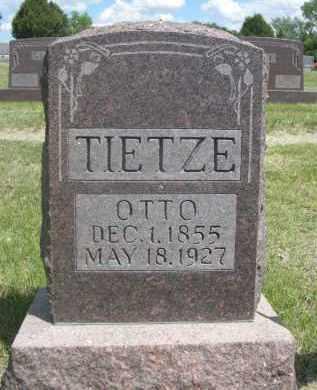 TIETZE, OTTO - Sioux County, Nebraska   OTTO TIETZE - Nebraska Gravestone Photos