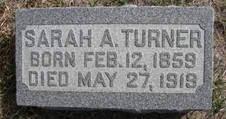 TURNER, SARAH A. - Sioux County, Nebraska | SARAH A. TURNER - Nebraska Gravestone Photos